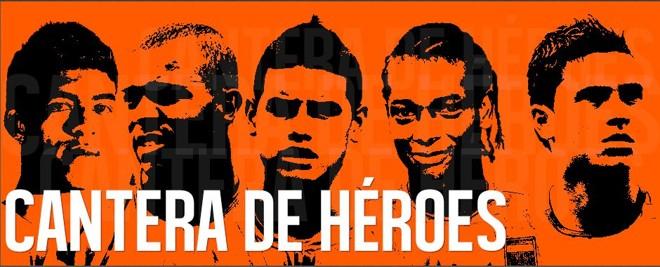 A formação de jogadores é o grande orgulho do Envigado FC: ao centro, James Rodríguez. | Reprodução/ Envigado FC