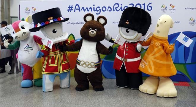 Mascotes históricos estão no Rio de Janeiro | Reuters