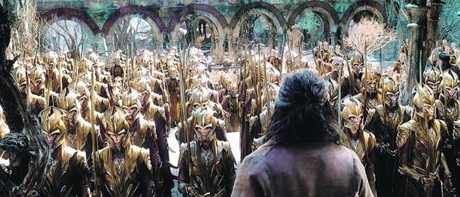 Cena da terceira parte de O Hobbit | Divulgação