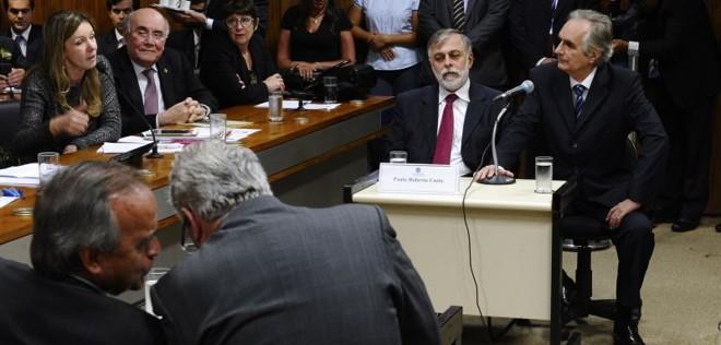 Paulo Roberto Costa e Nestor Cerveró durante a acareação na CPMI da Petrobras | Jefferson Rudy / Agência Senado