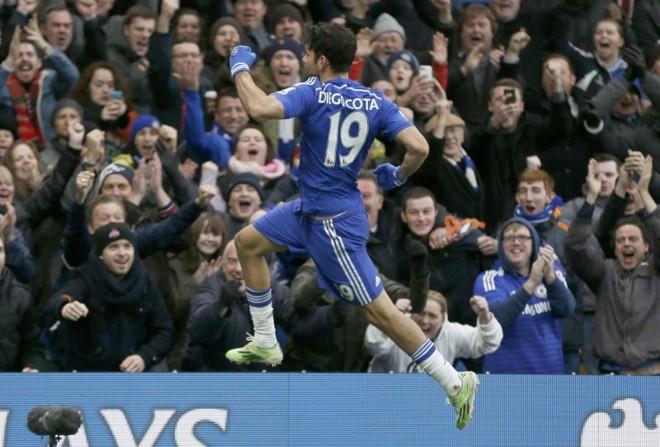 Diego Costa marcou 13 gols até aqui no Campeonato Inglês   Stefan Wermuth / Reuters