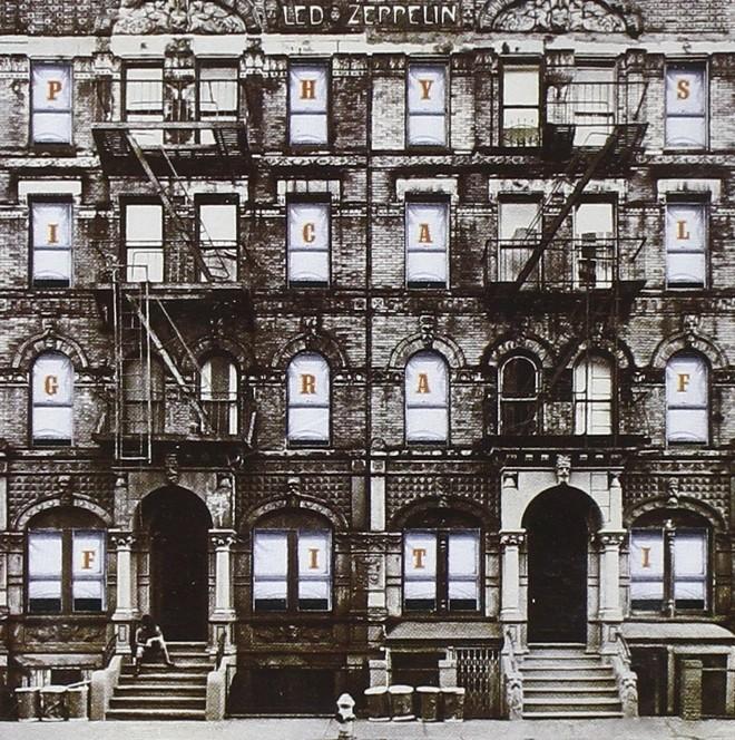 """Capa do disco clássico do led Zeppelin """"Physical Graffiti""""   Reprodução"""