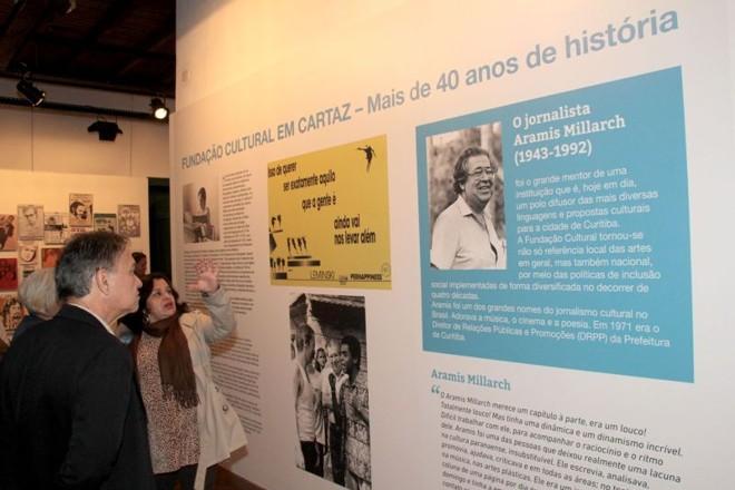 Mostra reúne painéis que contam a história da FCC | Alice Rodrigues/ Fundação Cultural de Curitiba
