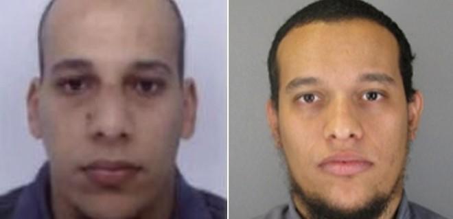 Cherif Kouachi e Said Kouachi, suspeitos de participar do ataque, estão foragidos. As fotos foram divulgadas pelas autoridades francesas | Divulgação