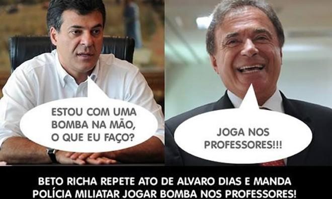 Diálogo fictício relembra a ação policial de 1988, no governo Alvaro. |