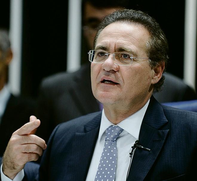 Renan criticou Dilma por não cortar cargos comissionados. | Marcos Oliveira/Agência Senado