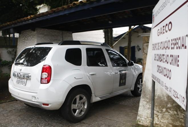 Movimentação na sede do Gaeco em Curitiba foi grande durante a sexta-feira, enquanto a maioria das prisões ocorria em Londrina. | Aniele Nascimento/Gazeta do Povo