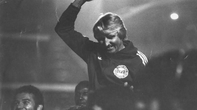 Dirceu Krüger campeão pelo Coritiba como técnico, em 1986.   Arquivo/GRPCOM