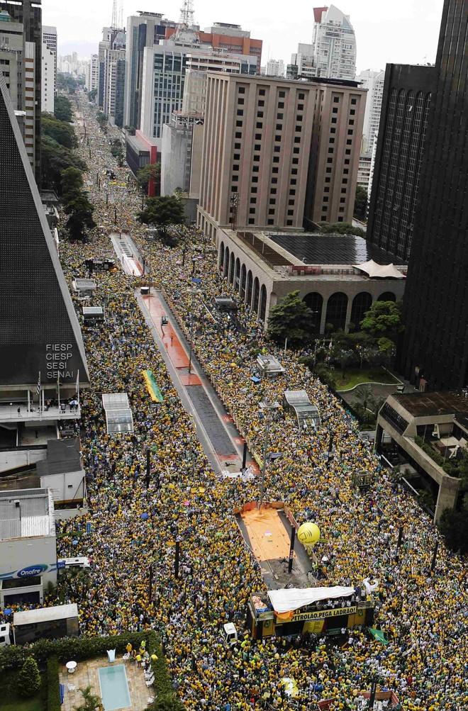 Manifestação está marcada para domingo, na Avenida Paulista. | NACHO DOCE/REUTERS