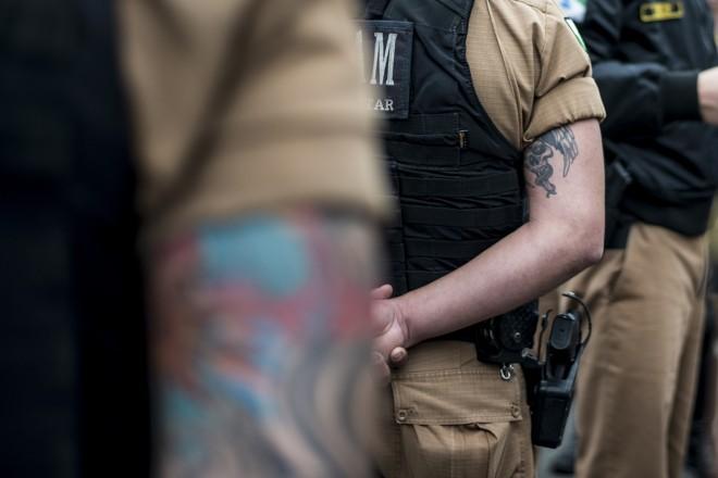 PMs reclamam de abusos na corporação: um soldado que fez tatuagem recente teve de se reportar à Corregedoria do órgão | Henry Milléo/Gazeta do Povo