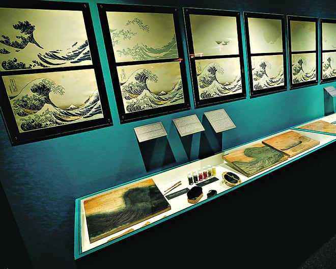 Visitante poderá ver passo a passo a produção dentro da técnica ukiyo-e. | Hugo Harada/Gazeta do Povo