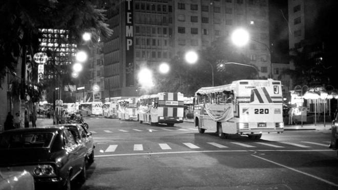 Dezenas de ônibus com torcedores do Coritiba deixaram Curitiba na noite de 30 de julho rumo ao Rio de Janeiro. | Arquivo/Gazeta do Povo