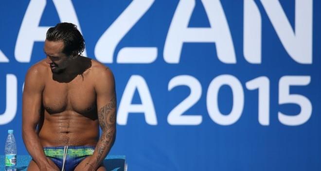 Thyê em se último treino em Kazan, antes de ser desligado da delegação brasileira e voltar ao país | Satiro Sodré/SS Press
