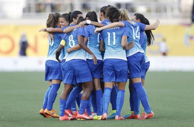 Brasil venceu a Colômbia por 4 a 0 na final do futebol feminino no Pan de Toronto. | Rafael Ribeiro/CBF
