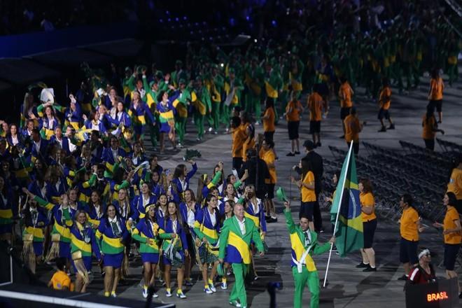 Time brasileiro na cerimônia de abertura  dos Jogos Pan Americanos de Toronto 2015. | SERGIO DUTTI/EXEMPLUS/COB/SERGIO DUTTI/EXEMPLUS/COB