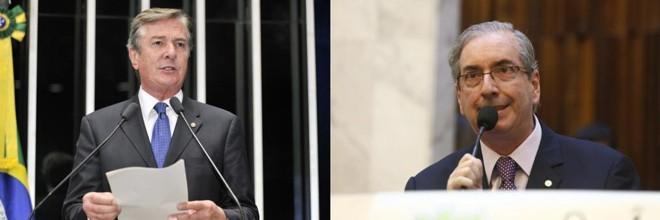 Collor e Cunha: denunciados na Lava Jato. | Waldemir Barreto/Agência Senado/ Hugo Harada/ Gazeta