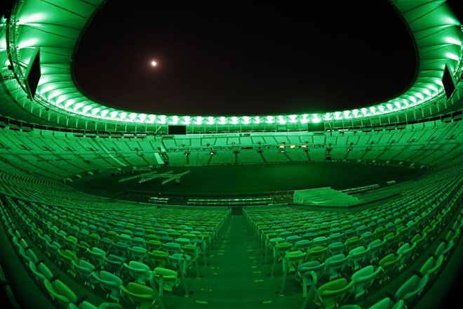 Estádio do Maracanã ficou verde na noite dos 30 anos do título brasileiro do Coritiba. | Albari Rosa/Gazeta do Povo