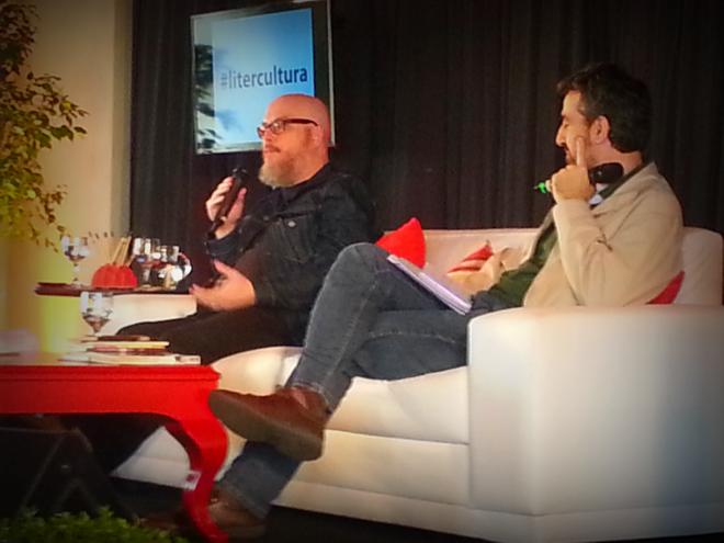 Joca Terron e Christian Schwartz durante mesa do Litercultura | Divulgação/