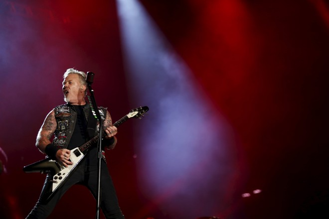 James Hetfield durante apresentação do Metallica no Rock in Rio | PILAR OLIVARES/REUTERS