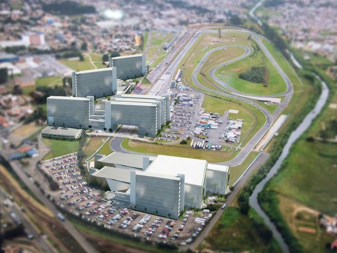 Esboço de projeto para o Autódromo Internacional de Curitiba, em Pinhais | Divulgação/Komm