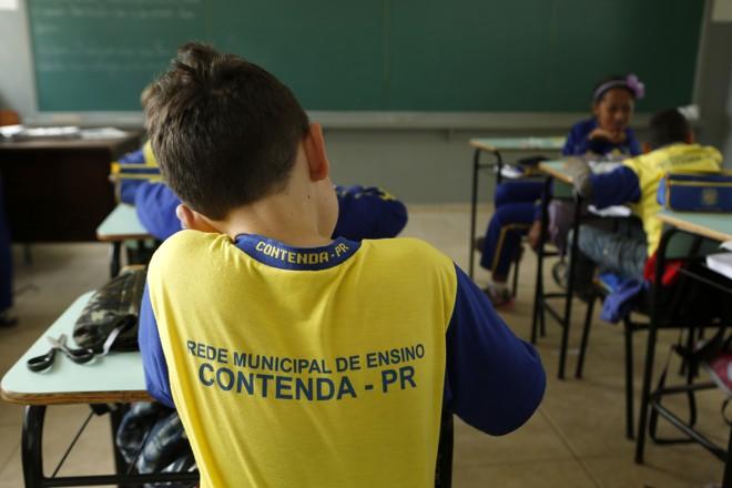 Algumas escolas de Contenda, na Região Metropolitana de Curitiba, não tem acesso à internet. | Marcelo Andrade/Gazeta do Povo