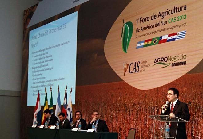 "3° Fórum de Agricultura da América do Sul  terá o tema ""Sociedade Urbana, Economia Rural"". | CHRISTIAN RIZZI/CHRISTIAN RIZZI"