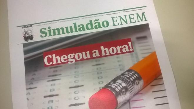 Na sexta-feira, a Gazeta do Povo publica o Simuladão Enem, com 40 questões.   Jônatas Dias Lima/Gazeta do Povo