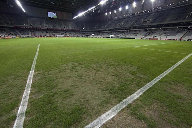 Gramado da Arena da Baixada será trocado para a instalação de um piso sintético. | Albari Rosa/Gazeta do Povo