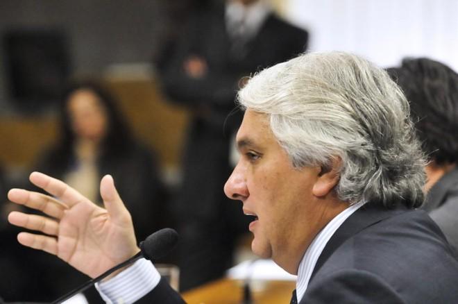 O senador foi levado de um hotel em que vive em Brasília para a Superintendência da Polícia Federal no Distrito Federal, onde está preso. | GERALDO MAGELA/GERALDO MAGELA