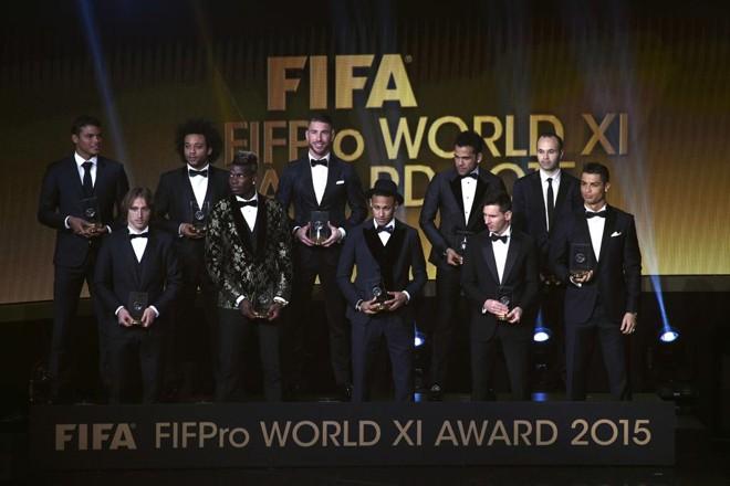 Seleção da Fifa de 2015.   Olivier Morin/AFP
