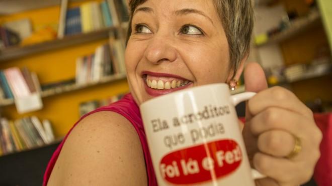 Lênia Luz , uma das criadoras do círculo de empreendedoras em Curitiba.   Marcelo Andrade/Gazeta do Povo