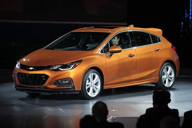 Novo Cruze hatch é apresentado oficialmente no Salão de Detroit. | Bill Pugliano/AFP