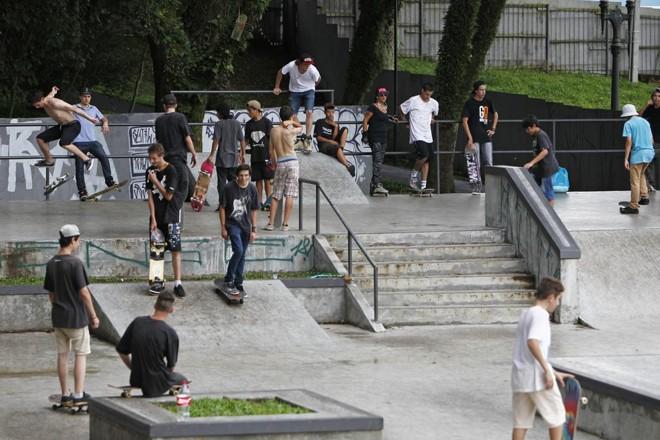 Pista de skate foi liberada no final de 2015. | Antônio More/Gazeta do Povo