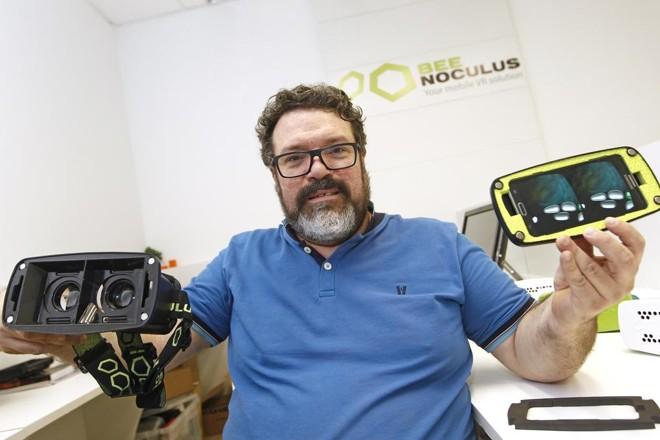 José Terrabuio Júnior , desenvolvedor do Beenoculus: realidade virtual acessível a todos | Antônio More/Gazeta do Povo
