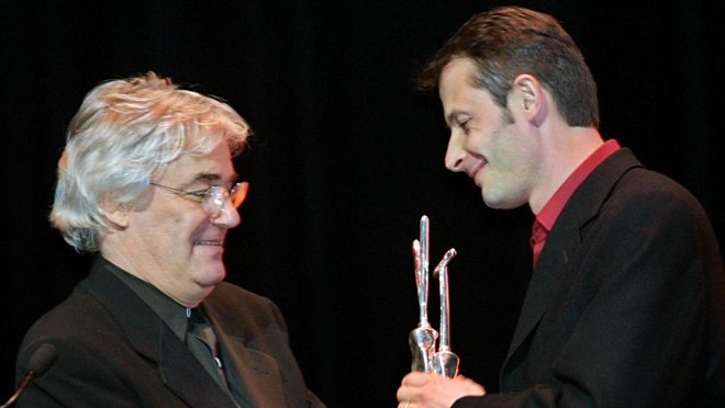 Andrzej Zulawski no Festival de Biarritz em 2002 | Daniel Velez/AFP