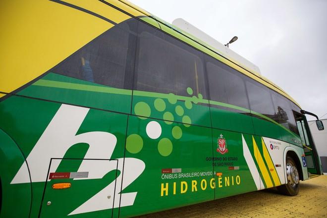 Ônibus com motores a base de hidrogênio começaram a operar em São Paulo na semana passada. | Du Amori m/A2FOTOGRAFIA