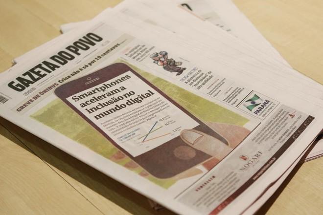 Em dezembro de 2015, a Gazeta doPovo passou a circular em formato berliner e com edição de fim semana. | Alexandre Mazzo/Gazeta do Povo