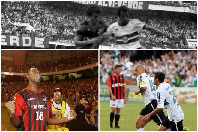 Atlético ficou sete vezes com o título e Coritiba oito quando os dois decidiram o Paranaense. | /