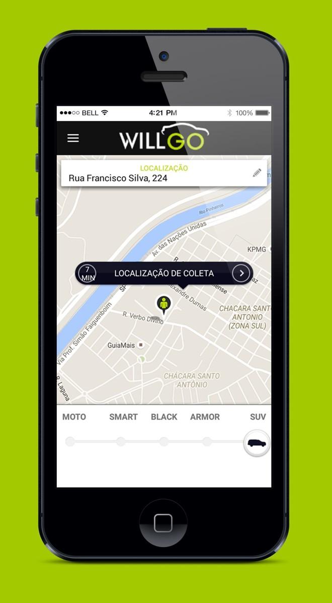 O app está disponível para download para sistemas Android e iOS. | WillGo/Divulgação