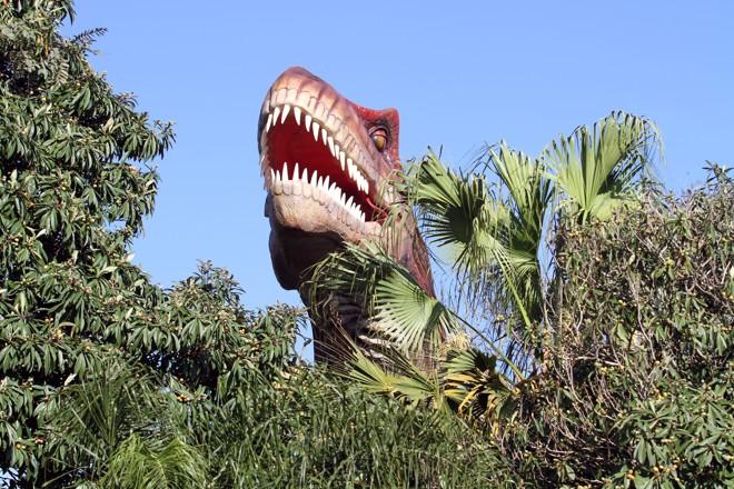 Vale dos Dinossauros, em Foz do Iguaçu, no Paraná | Christian Rizzi/Gazeta do Povo