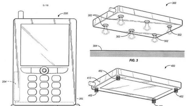 A ideia da Amazon é criar um sistema para proteger o celular nas quedas.No caso, um airbag | /Reprodução (registro da patente)