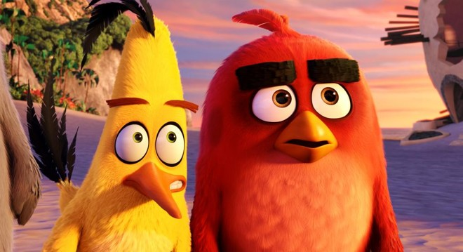 Personagens são dublados por Fábio Porchat (o pássaro amarelo, Chuck) e Marcelo Adnet (Red, o protagonista) | Rovio Animation/