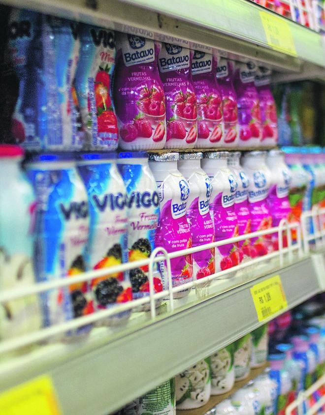 Venda de iogurtes foi afetada pela queda do poder aquisitivo. | Bunno Covello/Arquivo Gazeta do Povo