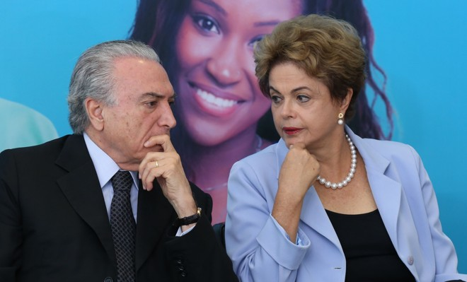 Temer e Dilma: adversários podem se reencontrar na abertura da Rio-16.   Lula Marques/Agência PT