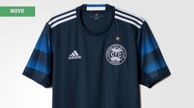 b02045dcbe2 Adidas  vaza  camisa azul do Coritiba