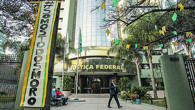 Fachada da Justiça Federal: processos ficaram nas mãos de Moro. | Daniel Castellano/Gazeta do Povo/ Arquivo