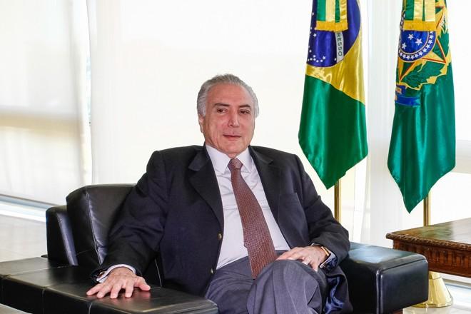 Temer deu entrevista a jornais nesta sexta-feira (24)   Marcos Corrêa/PR/