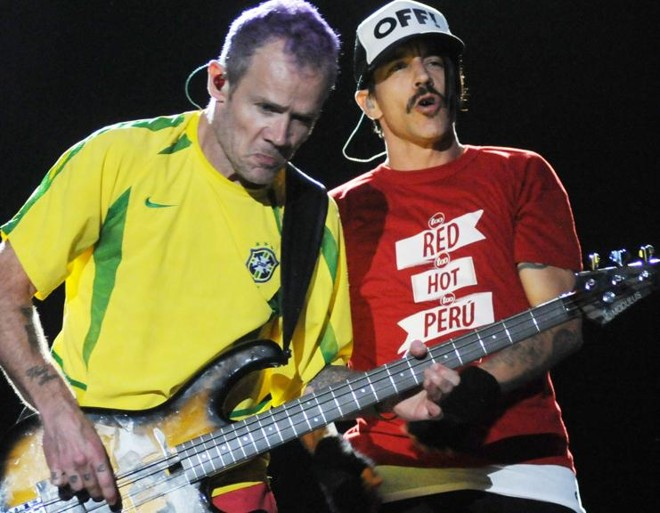 Flea e Anthony Kiedis durante show no Rock in Rio, em 2011 | as/dan/ANDRE DURAO