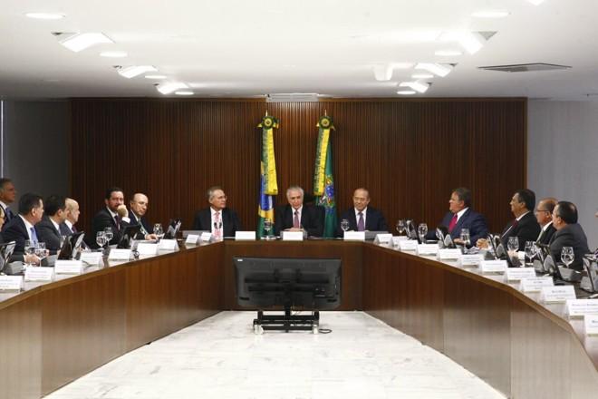 Reunião com o presidente interino, Michel Temer, selou o acordo no fim da tarde desta segunda-feira (20) | Reprodução/Twitter /