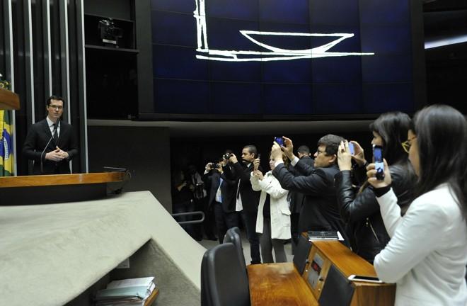 Deputados tietaram o procurador Deltan Dallagnol, da Lava Jato. | Luís Macedo/Câmara dos Deputados/Fotos Públicas